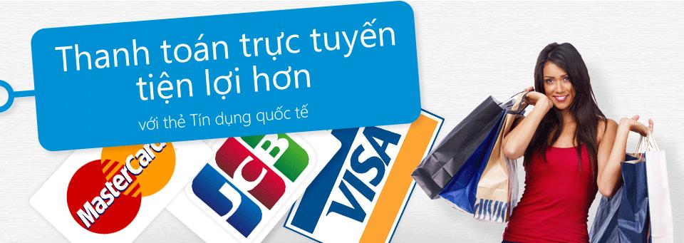 Thanh toán trực tuyến cần thẻ tín dụng