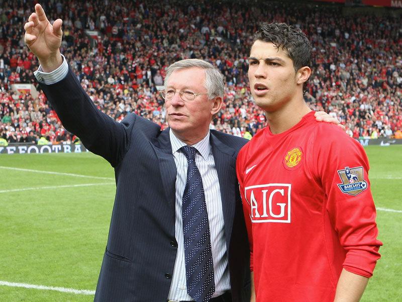Cristiano Ronaldo và Sir Alex Ferguson